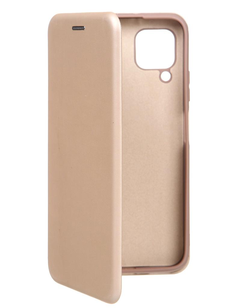 Чехол Krutoff для Huawei P40 Lite Soft Book Gold 10576