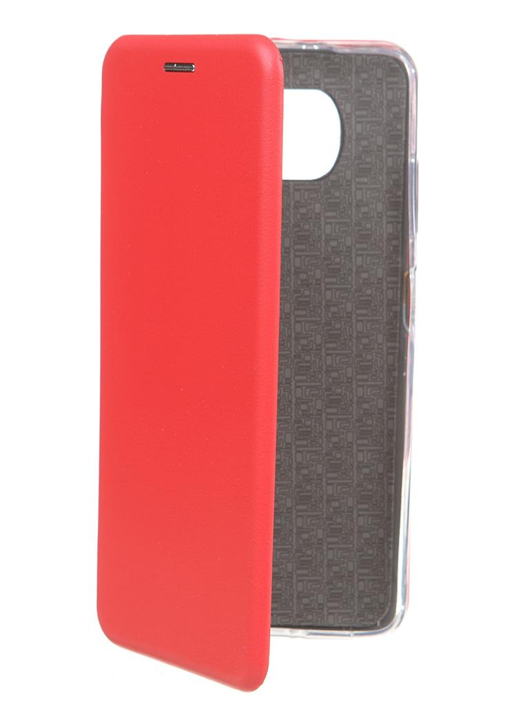 Чехол Zibelino для Poco X3 Book Red ZB-XIA-X3-RED