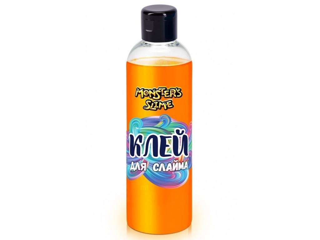 Слайм KiKi Monsters Slime Клей для слаймов 250ml Neon Orange KL034 недорого