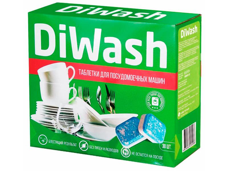 Фото - Таблетки для посудомоечных машин DiWash 30шт дальнева таблетки 5мг 8мг 30шт