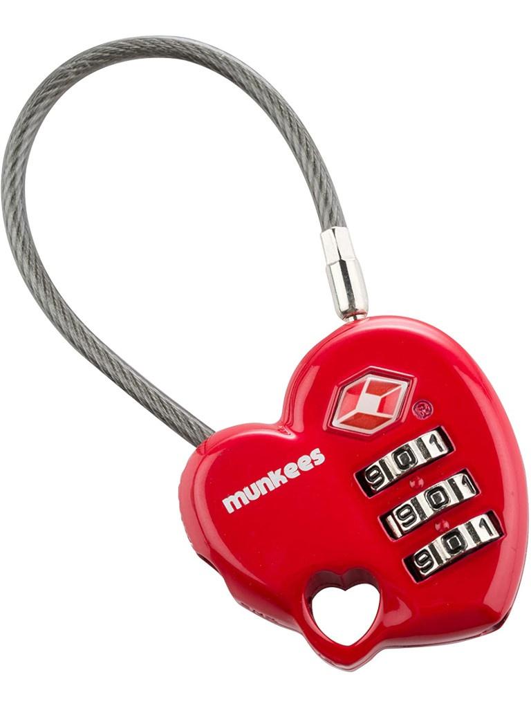 Брелок Munkees Combination Lock-Heart 80x37x14mm Red 3606/1144133