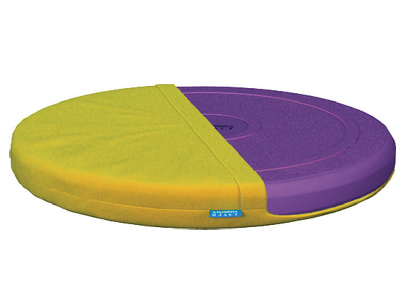 Подушка Альпина Пласт балансировочная Фитдиск Плюс Purple + чехол Yellow 3282