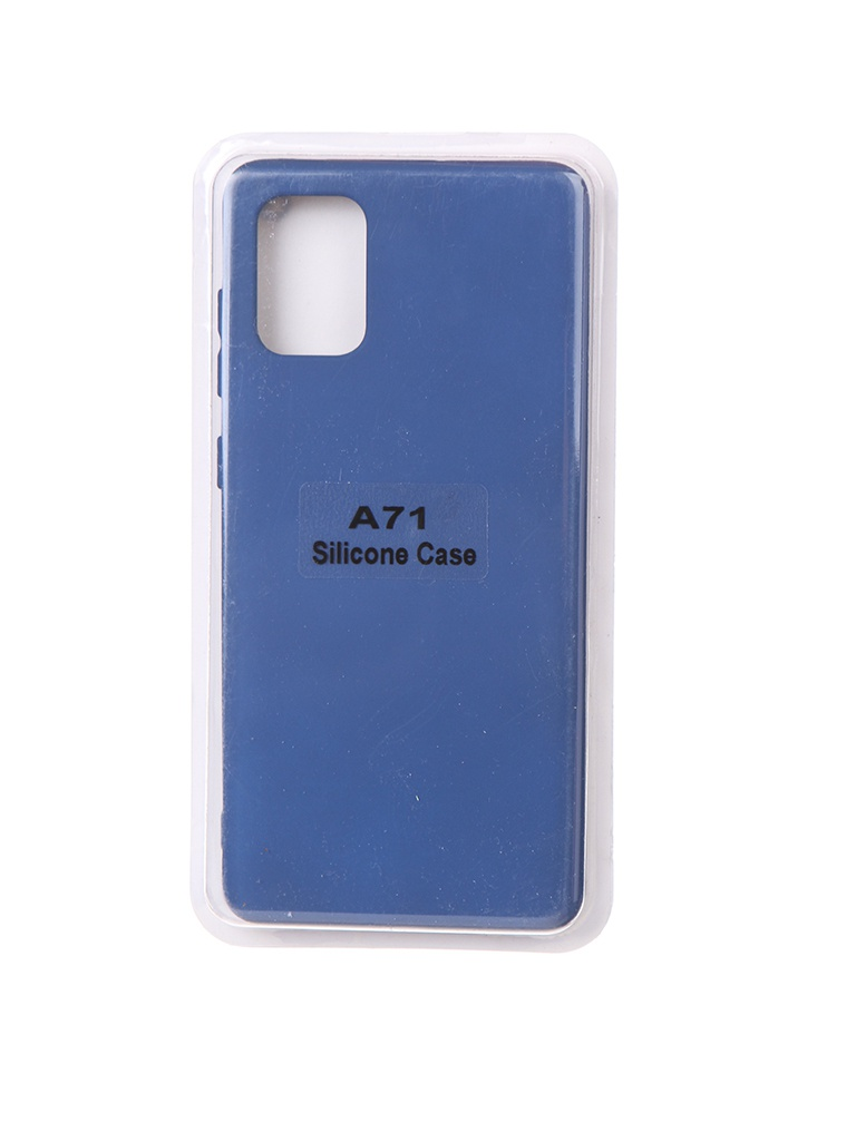 Чехол Innovation для Samsung Galaxy A71 Soft Inside Blue 18963 чехол innovation для samsung galaxy m31s soft inside blue 18952