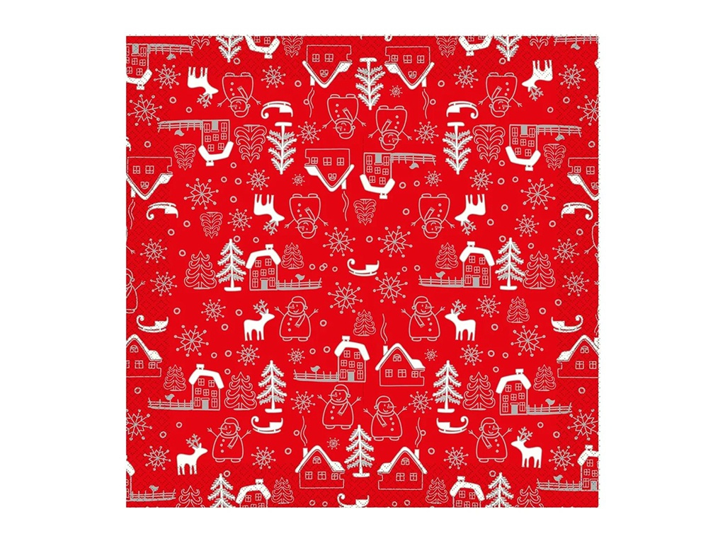 Салфетки бумажные Gratias Суоми 3-слойные 33cm 20шт 4095151