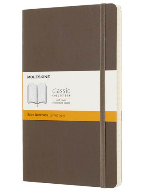 Блокнот Moleskine Classic Soft Large 130х210mm 96 листов Brown QP616P14 / 1056579
