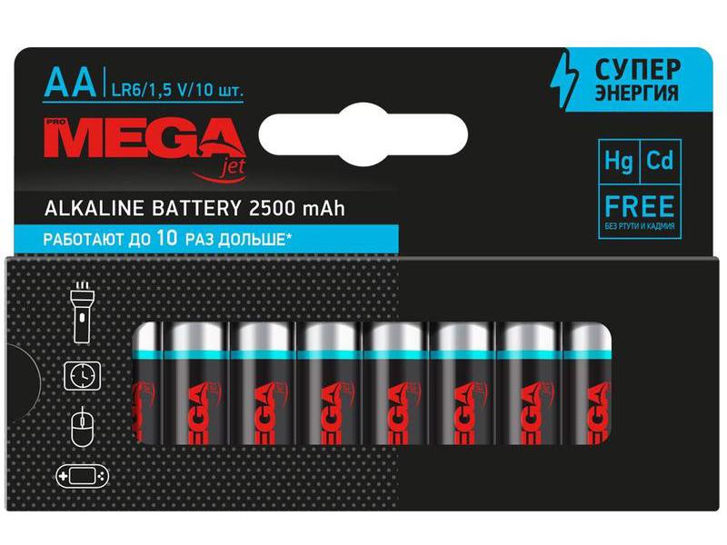 Батарейка AA - ProMega LR06 (10 штук) 1188299