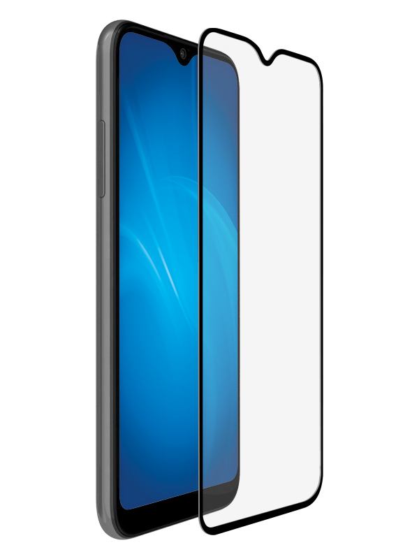 Закаленное стекло DF для Samsung Galaxy A12 Full Screen + Full Glue Black sColor-111