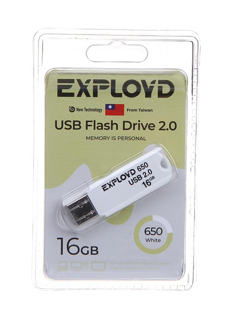 USB Flash Drive 16Gb - Exployd 650 EX-16GB-650-White usb flash drive 16gb exployd 580 ex 16gb 580 black