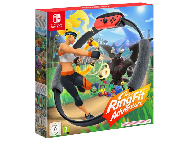 Контроллер Nintendo + игра Ring Fit Adventure ремень