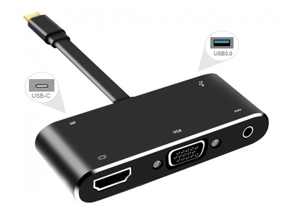 Фото - Аксессуар Orient C032 Type-C - HDMI + VGA + Audio + USB3.0 + PD 15cm optical audio adapter for xbox 360 15cm length