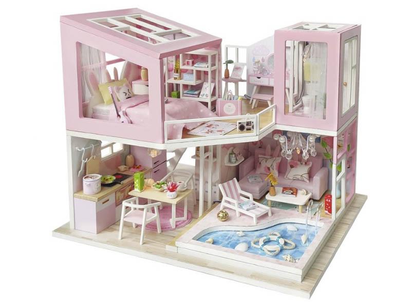 Сборная модель DIY House Розовый фламинго M915