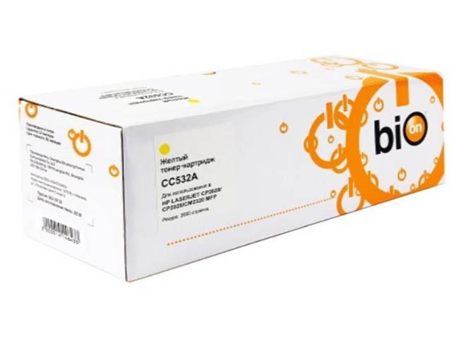 Картридж Bion BCR-CC532A Yellow для HP LJ Color CP2020/CP2025/CM2320/MFP/LJ Pro 300 M351a MFP/M375nw/LJ 400 M451/MFP M475/LJ M476 MFP 1414643