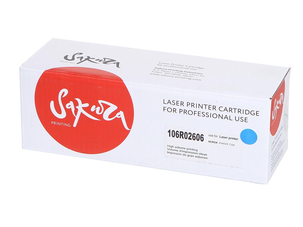 Картридж Sakura SA106R02606 / 106R02606 Blue для Xerox Phaser 7100