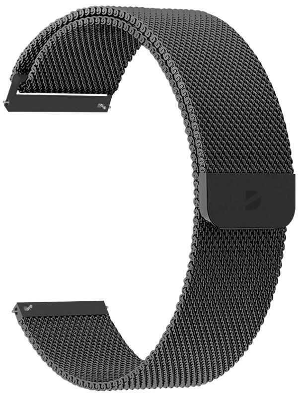 Аксессуар Ремешок Deppa универсальный Watch Band Mesh 20mm Black 47180