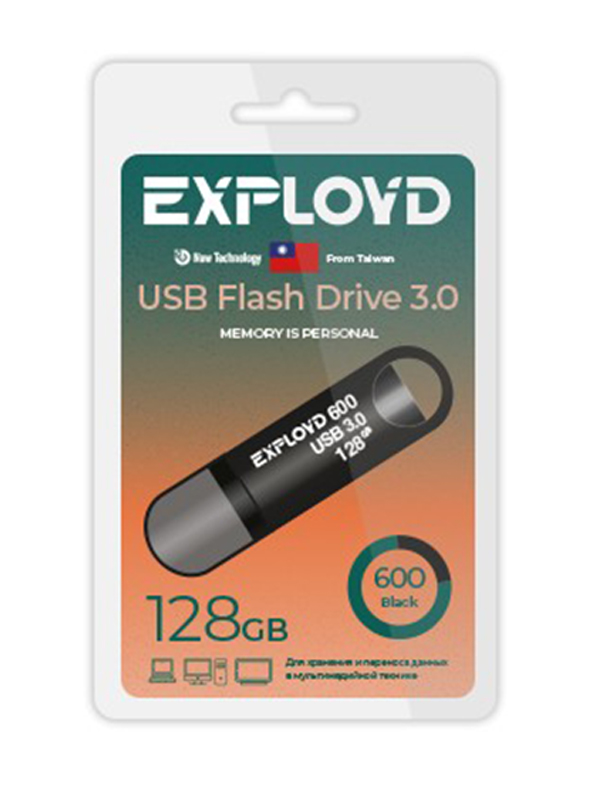 USB Flash Drive 128GB Exployd 600 EX-128GB-600-Black