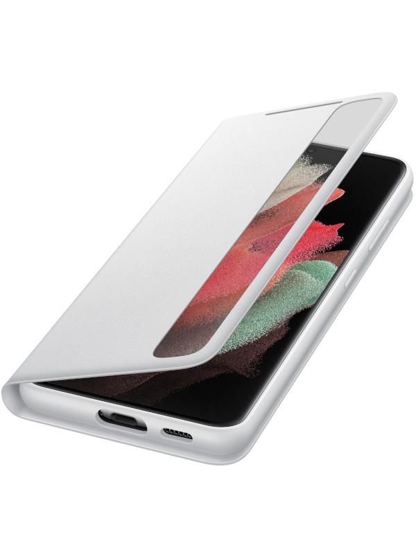 Чехол для Samsung Galaxy S21 Ultra Smart Clear View Cover Light Gray EF-ZG998CJEGRU