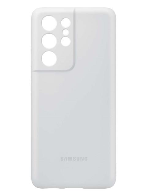Чехол для Samsung Galaxy S21 Ultra Silicone Cover Light Gray EF-PG998TJEGRU