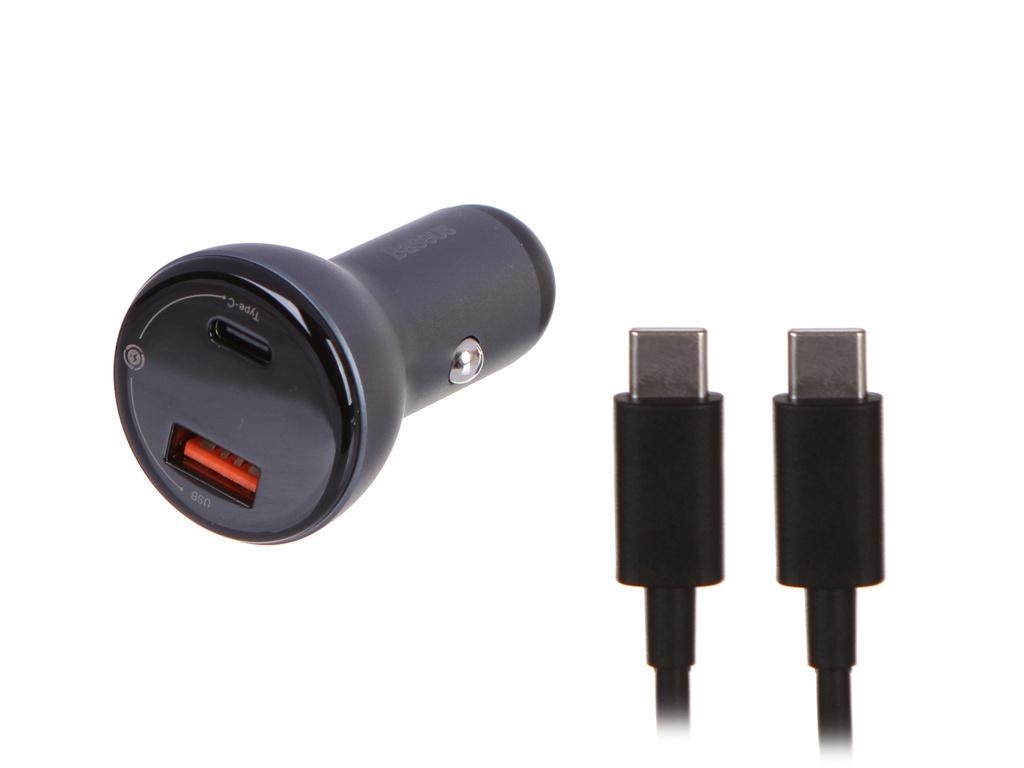 Фото - Зарядное устройство Baseus Digital Display PPS Dual Quick Charger 45W + Type-C - Type-C 3A TZCCBX-C0G зарядное устройство baseus removable 2in1 universal travel adapter pps quick charger edition tzpps 01