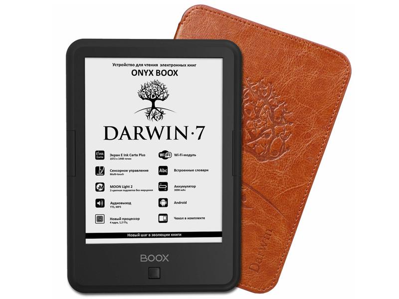 Фото - Электронная книга Onyx Boox Darwin 7 Black Выгодный набор + серт. 200Р!!! электронная книга onyx boox boox nova 3 32 гб черный