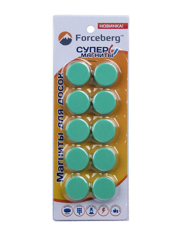Магнит для магнитной доски Forceberg 20mm Green 9-3612114-010F