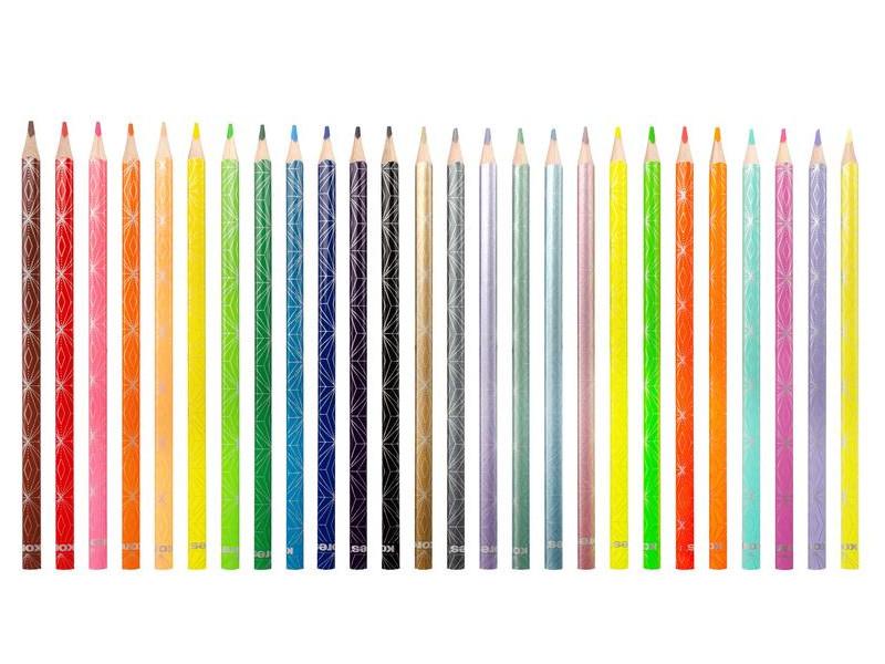 Карандаши цветные Kores Kolores Style 26 цветов 1311707