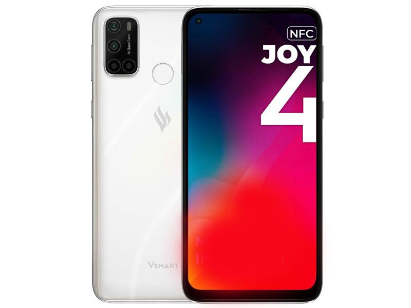 Сотовый телефон Vsmart Joy 4 4Gb/64Gb White Pearl сотовый телефон vsmart joy 3 4 64gb purple topaz