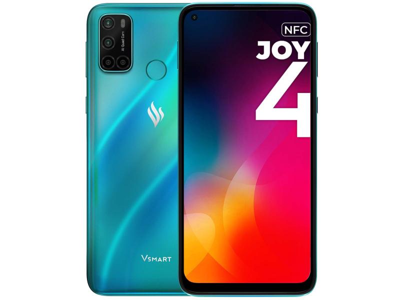 Сотовый телефон Vsmart Joy 4 3/64GB Turquoise сотовый телефон vsmart joy 3 4 64gb purple topaz