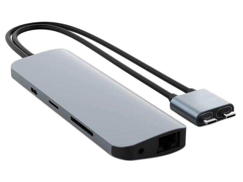 Хаб USB HyperDrive Hyper Viper 10-in-2 Hub для MacBook Pro / Air Space Grey HD392-GRAY