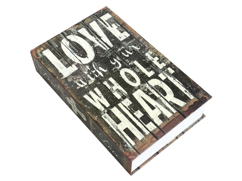 Сейф-книга Эврика Люблю всем сердцем 99970