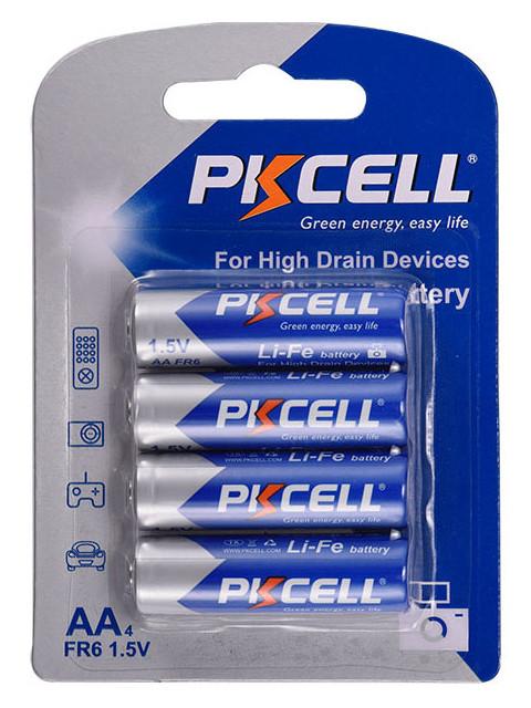 Батарейка AA - Pkcell 1.5V 2900mAh Li-ion Li-Fe AA-4B (4 штуки)
