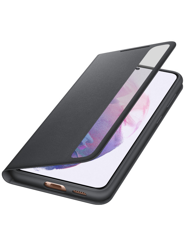 Чехол для Samsung Galaxy S21 Plus Smart Clear View Cover Black EF-ZG996CBEGRU