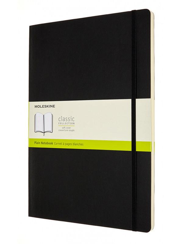 Блокнот Moleskine Classic Soft A4 96 листов Black QP643 / 1139367