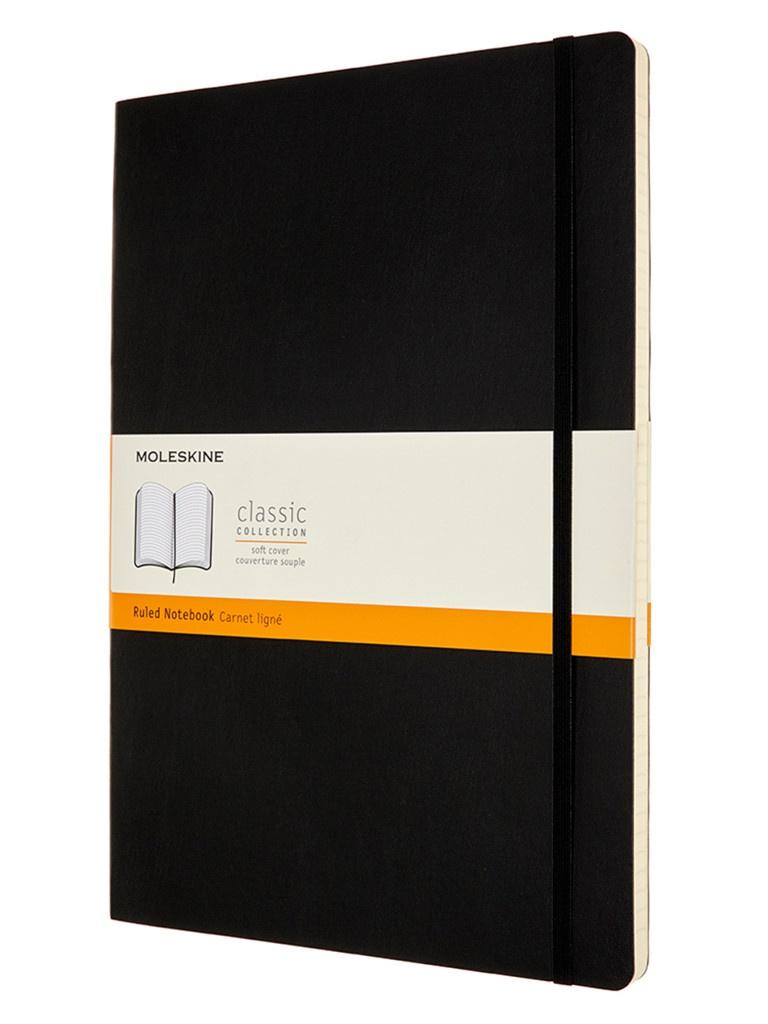 Блокнот Moleskine Classic Soft A4 96 листов Black QP641 / 1139362