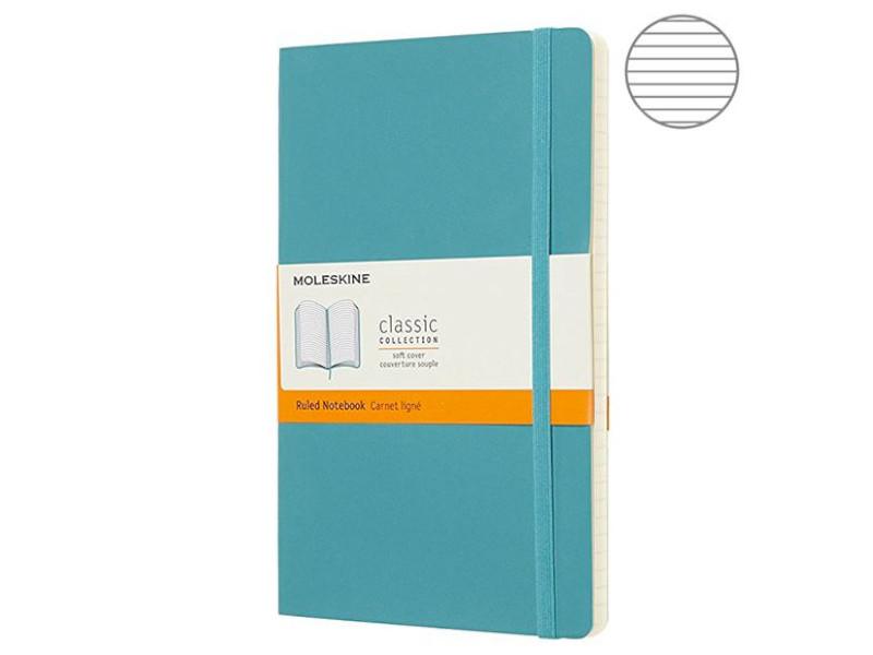 Блокнот Moleskine Classic Soft Large 130х210mm 96 листов Blue QP616B35 / 1056563
