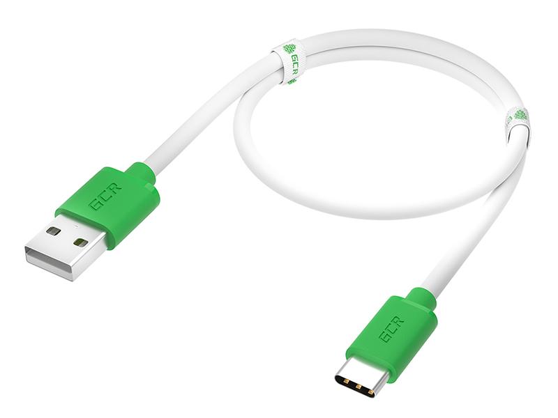Фото - Аксессуар GCR USB - Type-C 1m White-Green GCR-52719 аксессуар gcr usb type c 2m white green gcr 53248