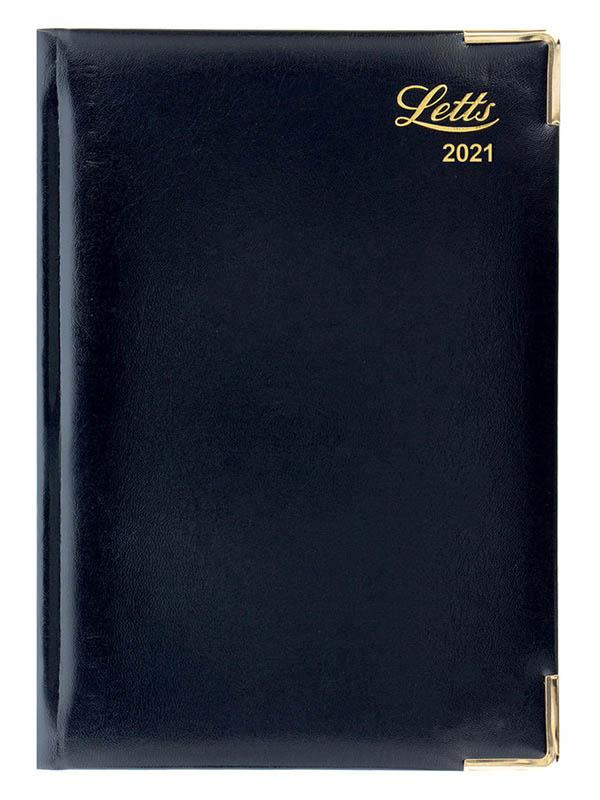 Ежедневник Letts Lexicon A5 искусственная кожа Black 822943