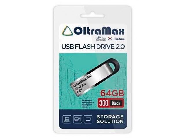 USB Flash Drive 64Gb - OltraMax 300 OM-64GB-300-Black