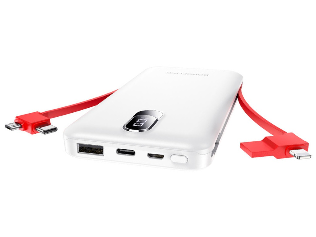 Внешний аккумулятор Borofone Power Bank BJ2 Buena 10000mAh White