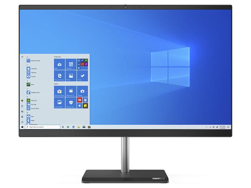 Моноблок Lenovo V50a-24IMB 11FK003NRU (Intel Core i5-10400T 2.0GHz/8192Mb/512Gb SSD/DVD-RW/AMD Radeon 625 2048Mb/Wi-Fi/23.8/1920x1080/Windows 10 64-bit)