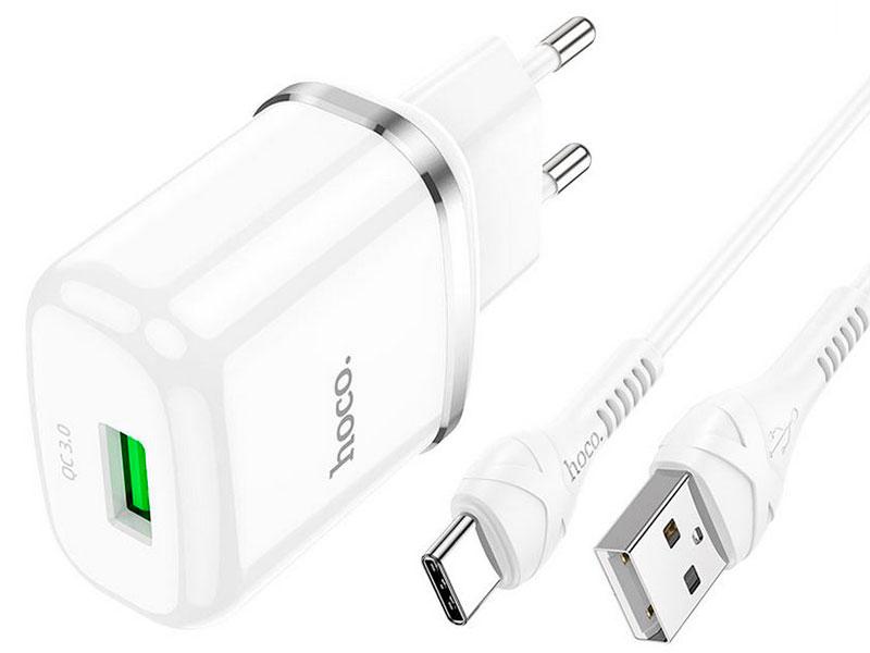 Зарядное устройство Hoco N3 Special 3A + кабель Type-C White