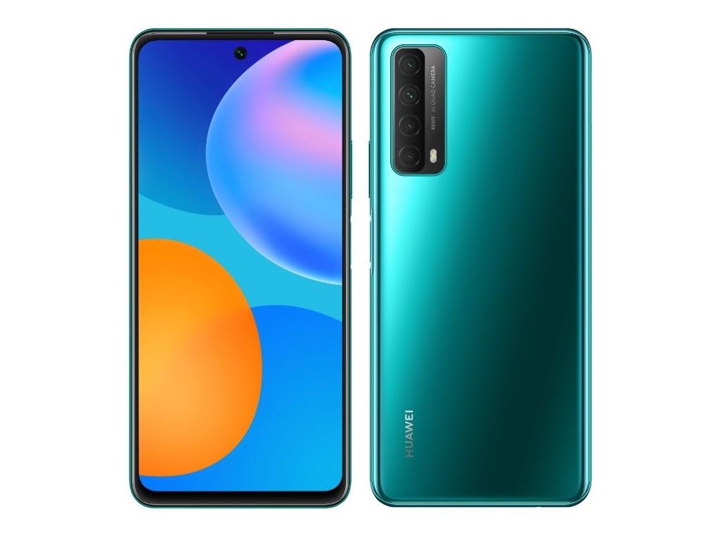 Фото - Сотовый телефон Huawei P Smart 2021 4/128Gb Crush Green Выгодный набор для Selfie + серт. 200Р!!! сотовый телефон huawei p40 lite 6 128gb crush green