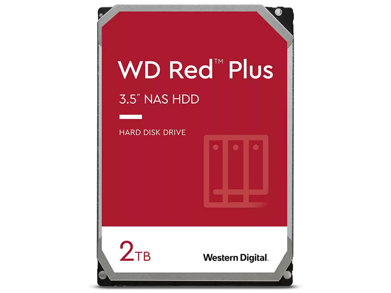 Жесткий диск Western Digital WD Red Plus 2Tb WD20EFZX