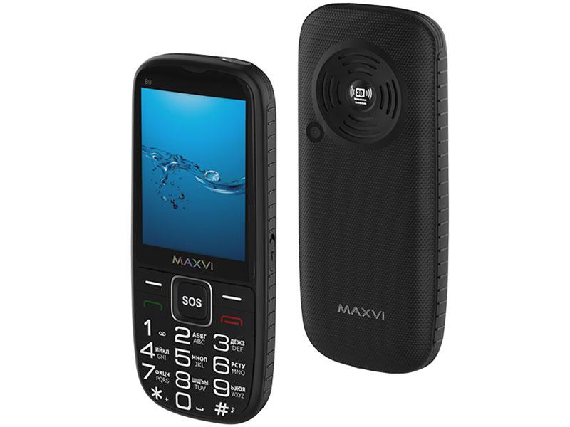 Сотовый телефон MAXVI B9 Black мобильный телефон maxvi b9 black