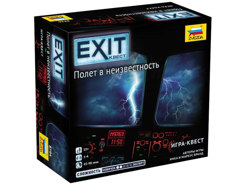 Настольная игра Zvezda Exit квест Полет в неизвестность 8794