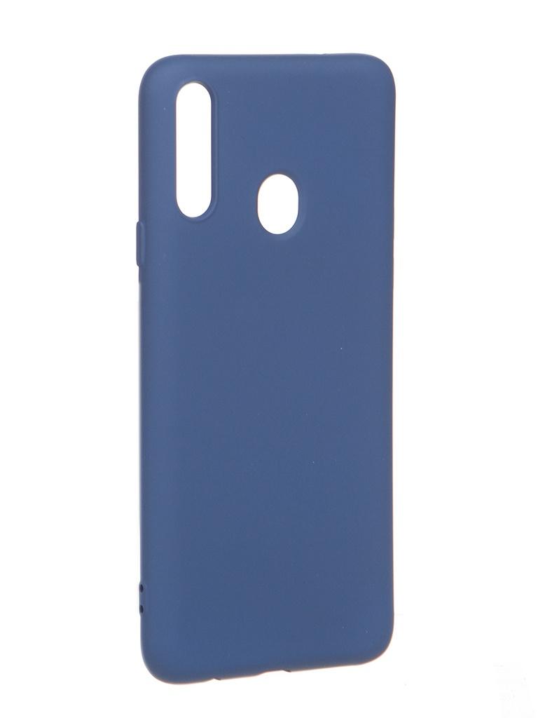 Чехол Krutoff для Samsung Galaxy A20s A207 Silicone Blue 12424