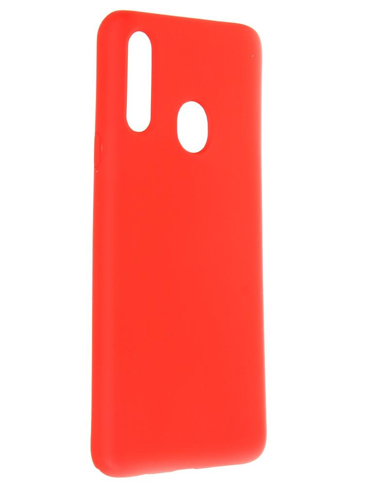 Чехол Krutoff для Samsung Galaxy A20s A207 Silicone Red 12280