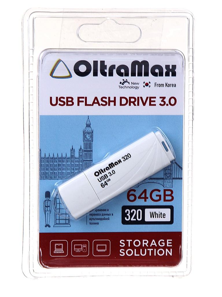 Фото - USB Flash Drive 64Gb - OltraMax 320 OM-64GB-320-White usb flash drive 64gb oltramax 290 om 64gb 290 dark red