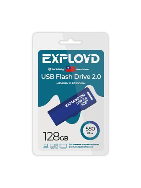 USB Flash Drive 128Gb - Exployd 580 EX-128GB-580-Blue usb flash drive 16gb exployd 580 ex 16gb 580 black