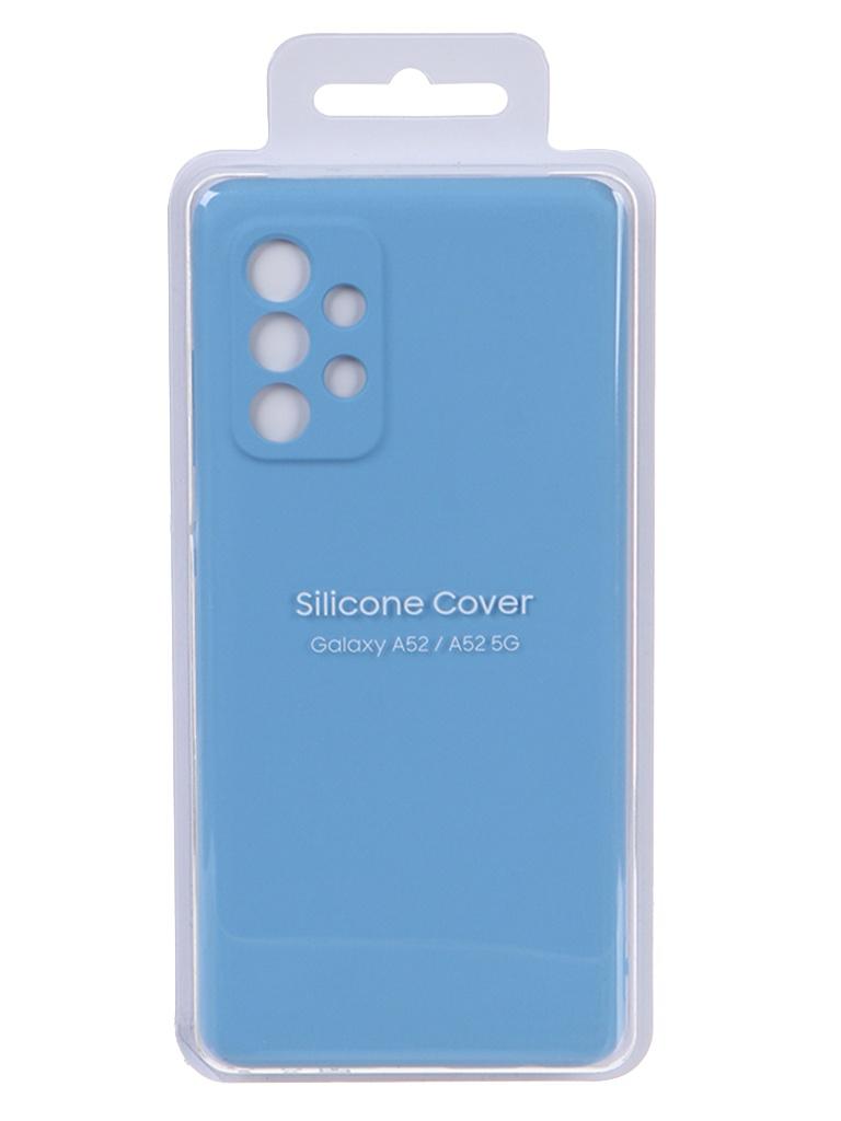 Чехол-накладка для Samsung Galaxy A52 Silicone Cover Blue EF-PA525TLEGRU