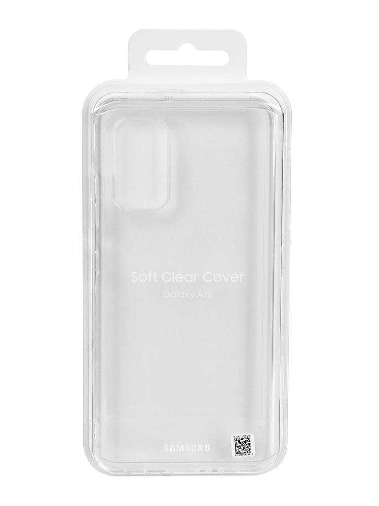 Чехол-накладка для Samsung Galaxy A32 Soft Clear Cover Transparent EF-QA325TTEGRU